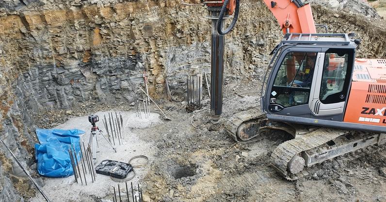 Pali di fondazione pronti per il getto del calcestruzzo
